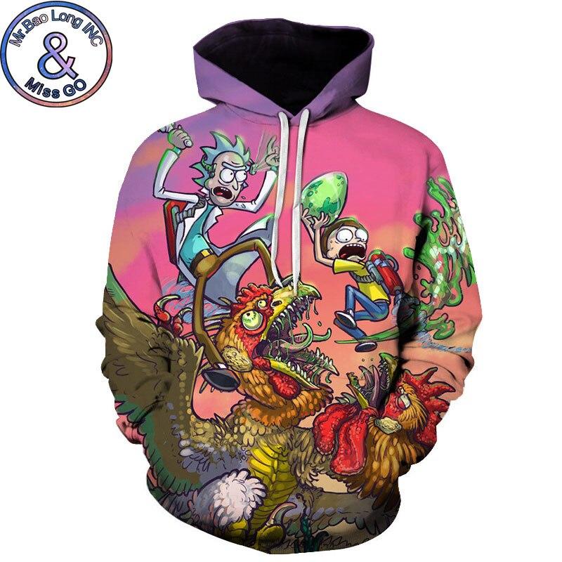 Rick And Morty Anime Hoodies Men Women Funny 3D Hoodies Sweatshirts Men Hip Hop Streetwear Hoody Hoodie Tracksuit Sweat Homme