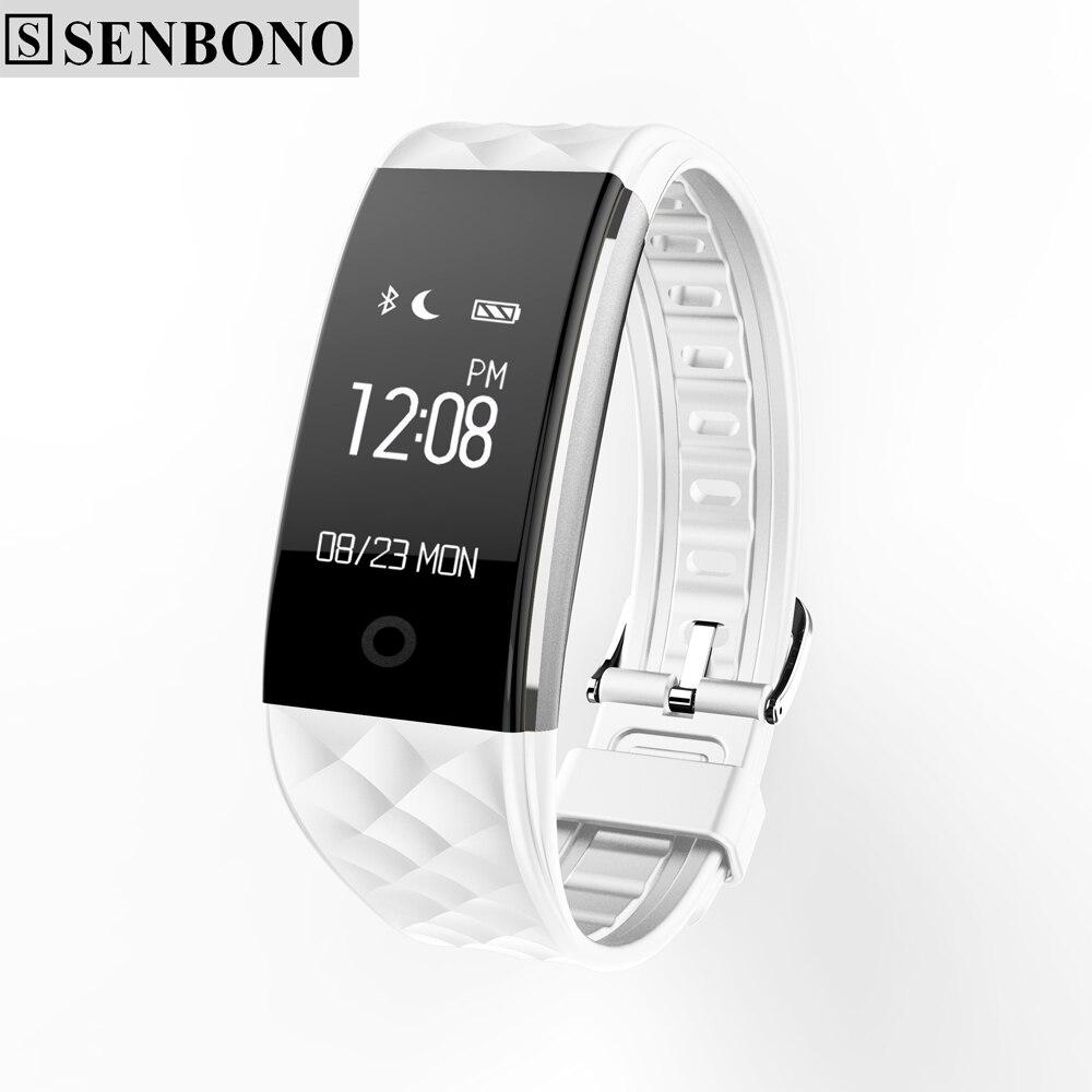 imágenes para Senbono S2 plus sport Inteligente Banda reloj de Pulsera de la Pulsera Smartband IP67 Impermeable de Bluetooth Del Ritmo Cardíaco Para el iphone android