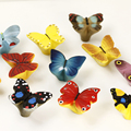 Multi-colors Resin Butterfly Kids Children Room Drawer Pulls Knobs Cabinet  Handles Knob Furniture Hardware With Screw