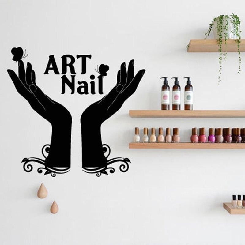 Nail Bar Salon Sticker Girl Spa Decal Massage Beauty Posters Vinyl ...