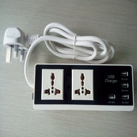 New Power Strip 4 USB Charging Ports Power Plug US EU UK Standard Plug Multi Adapter