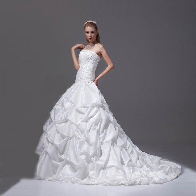 2017 Elegant Bride Dress Wedding With Pick Ups Off Shoulder Dwayne