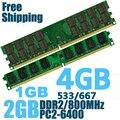 DDR2 800 PC2-6400 PC2 6400 5300 4200 1GB 2GB 4GB Desktop RAM Memory memoria compatible with DDR 2 800MHz 667MHz / 533MHz