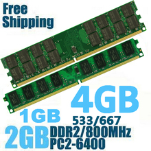 DDR2 800 PC2-6400 PC2 6400 5300 4200 1GB 2GB 4GB Desktop RAM Memory memoria compatible with DDR 2 800MHz 667MHz / 533MHz  new 10x1gb pc2 5300 ddr2 667 667mhz 240pin dimm laptop memory pc5300 667mhz ddr2 low density ram free shipping