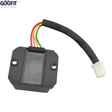 GOOFIT 4 Wire Voltage Regulator for CG 125cc 250cc and GY6 50cc 150cc ATV Dirt Bike