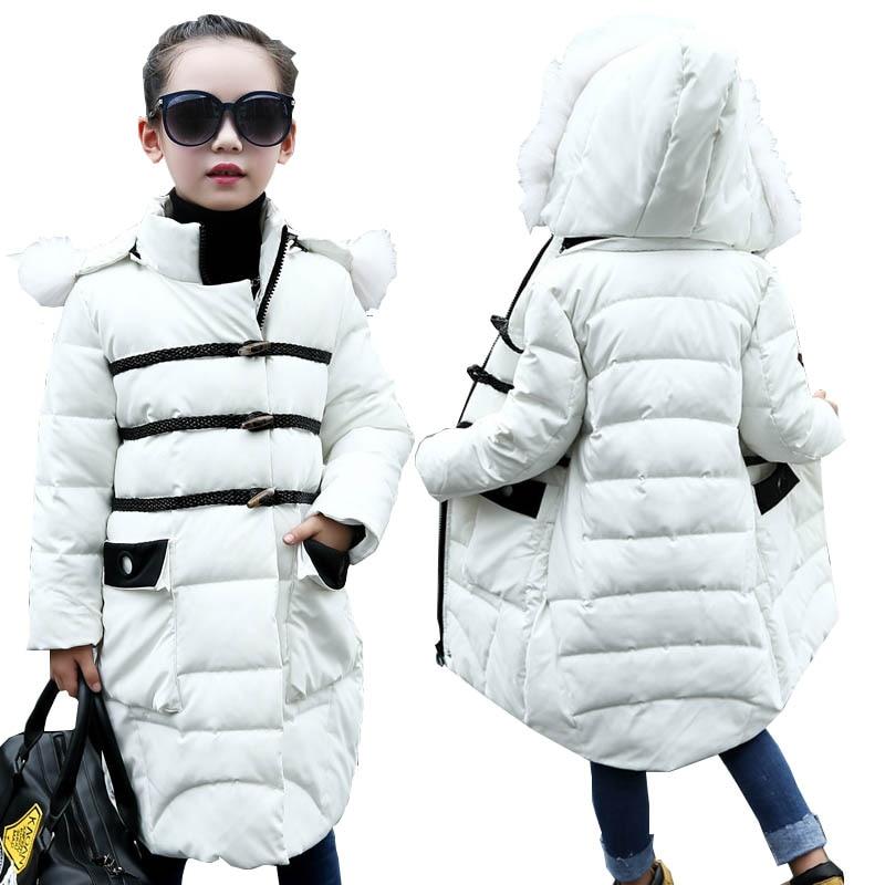 Girls winter coats kids down jackets outerwear coats kids down parkas children jackets for girls jackets warm girls clothes 4-12