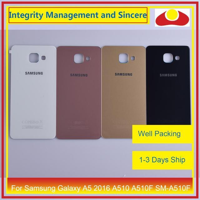 מקורי עבור Samsung Galaxy A5 2016 A510 A510F SM A510F שיכון סוללה דלת אחורי כיסוי אחורי מקרה מארז פגז
