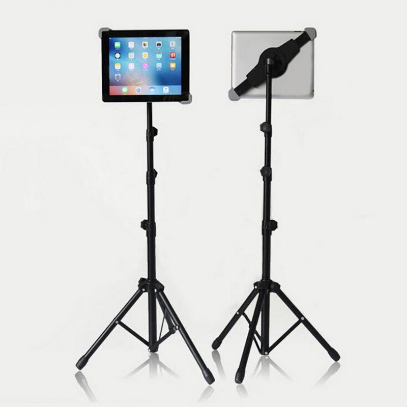Universal Adjustable Tablet Tripod Floor Stand Tablet Holder Mount Tablet Support Bracket for 7-12 inch Tablets Pad For Ipad high quality abs self stick tripod mount stand holder tablet mount holder bracket clip accessories for 7 11 tablet for ipad