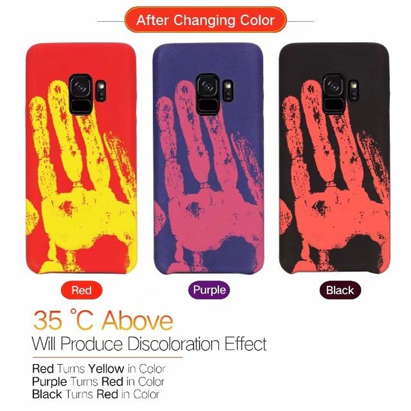 for Samsung galaxy S9 Plus Thermal induction discoloration Protective Shell Skin Phone Cases for galaxy s8 s9plus case