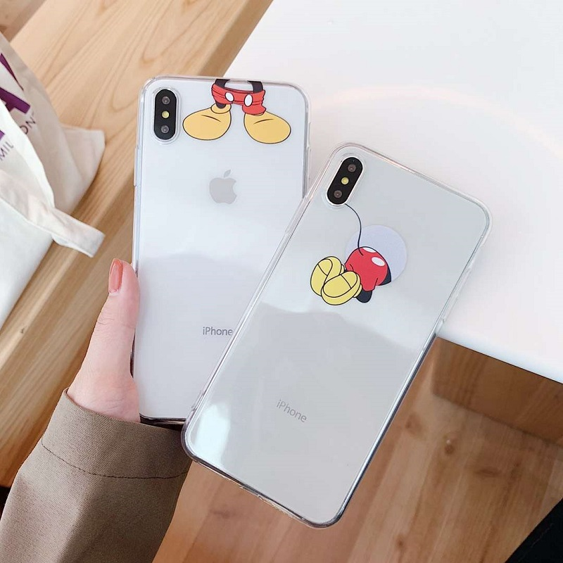 Cartoon Silicone Phone Cases For <font><b>iPhone</b></font> x case Cute Soft <font><b>Mickey</b></font> back Cover For iPhone6 <font><b>6S</b></font> 7 8 Plus XS MAX XR <font><b>Coque</b></font> Fundas image
