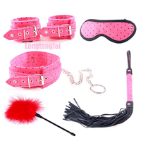 Bondage Set Sexy Toys Alternative Toys Handcuffs Feet Love Plush 5 Pcs Set Sex Intimate Sex Products