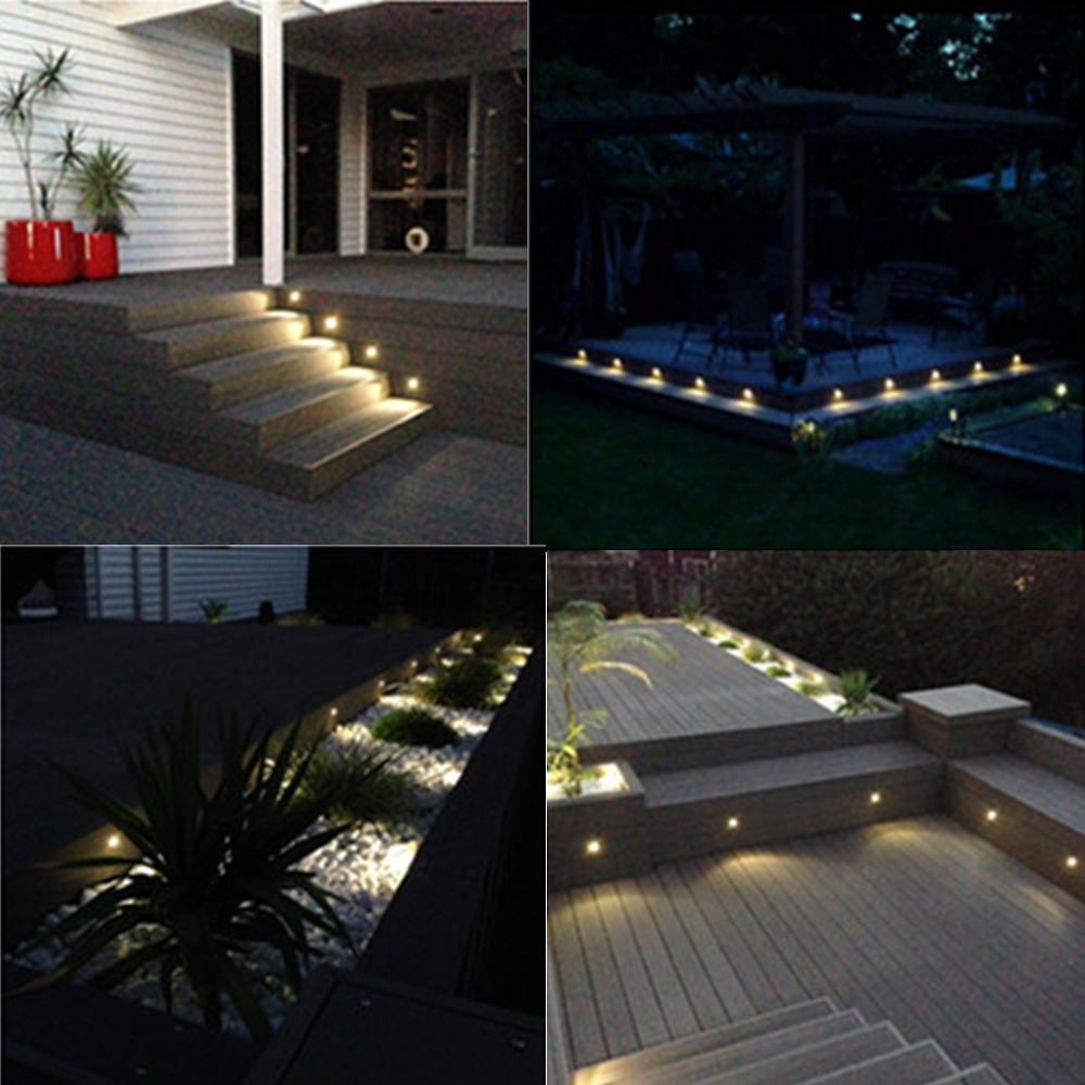 Image 5 - 10PCS/lot Black 35mm Half Moon LED Outdoor Garden Yard Fence Stair LED Deck Rail Step Lights Lamps Low Voltage String Light-in LED Underground Lamps from Lights & Lighting