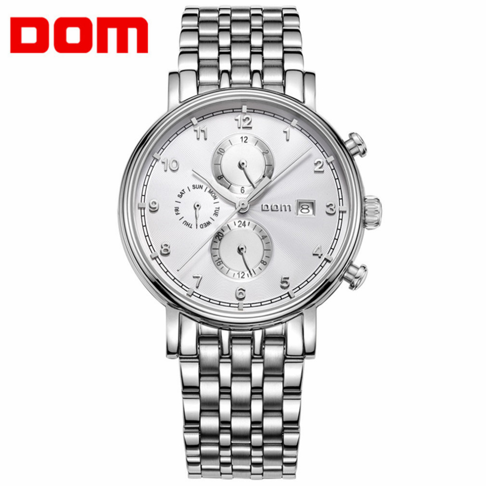 DOM Business Auto Mechanical Watch Men Male Sapphire Glass Waterproof Hollow Wristwatch Large Size Pointer Display Watches JYL angie st7194 fearless series male auto mechanical watch