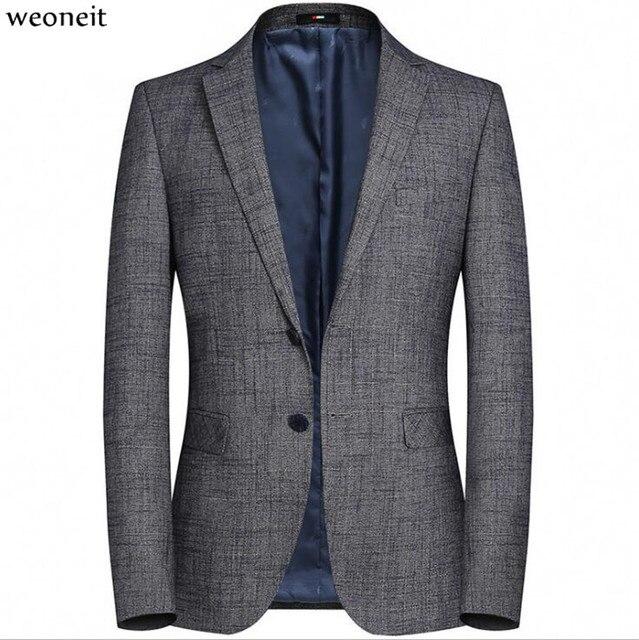 Weoneit 男性ドレスブレザージャケットブランドスリムフィットカジュアルビジネスブレザースーツ男性 M-3XL ウェディングパーティーフォーマルなスーツブレザー