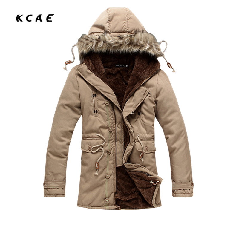 2017 New Plus Velvet Parkas Winter Jacket Men Military Style Medium-long Hooded Winter Coat Cotton-Padded Warm Jackets 2016 new long winter jacket men cotton padded jackets mens winter coat men plus size xxxl