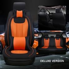 Luxus leder auto sitzbezug universal sitzbezüge für Mitsubishi Lancer Pajero Sport Asx autos kissen auto zubehör stil