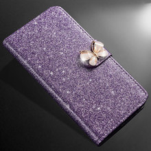 ZOKTEEC New High quality Fashion Bling Diamond Glitter PU Leather Case Wallet Cover For Leagoo M9 Pro Flip Stand