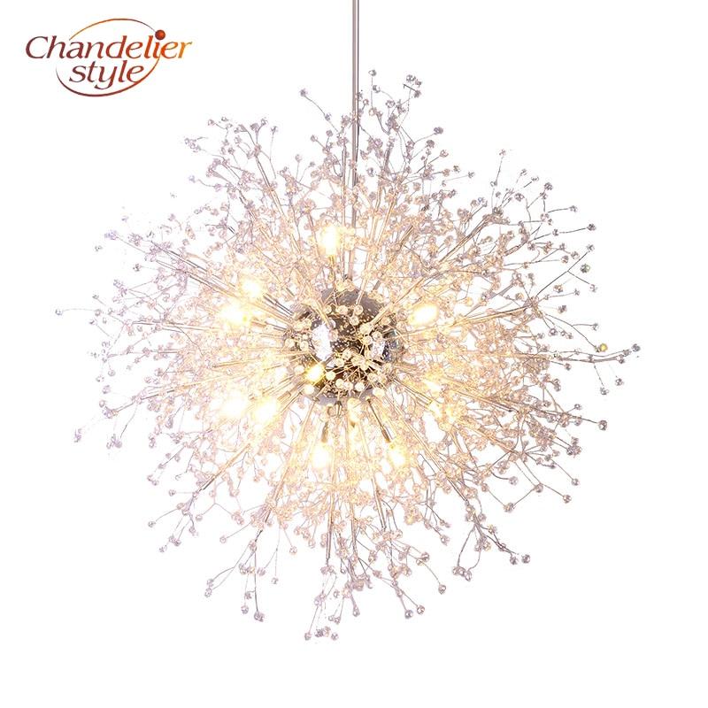 Modern Crystal Chandelier Lighting Globe Cristal Chandeliers Light Round Hanging Lamp Fixtures for Home Hotel Restaurant Decor стоимость