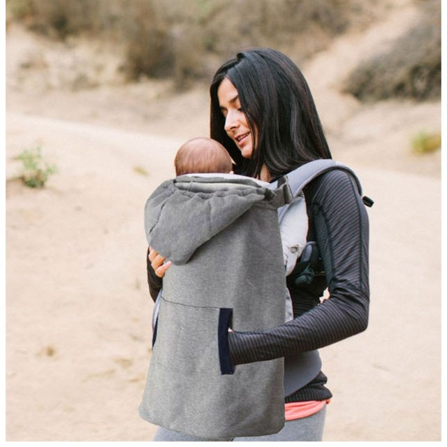 Face to Face Backpacks & Carriers Grey Baby Sling Warm Cloak blanket Draped cloak Winter Wind Out