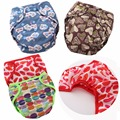 JinoBaby Reusable Baby Diapers Double Gussets Diaper Cover Training Pants Baby (with Bamboo Insert)