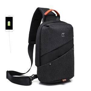 Image 2 - Erkekler askılı çanta Moda Rahat Göğüs Çanta Paketi Anti Hırsızlık Omuz Crossbody çanta Genç seyahat çantası uygun cep telefonu çantası