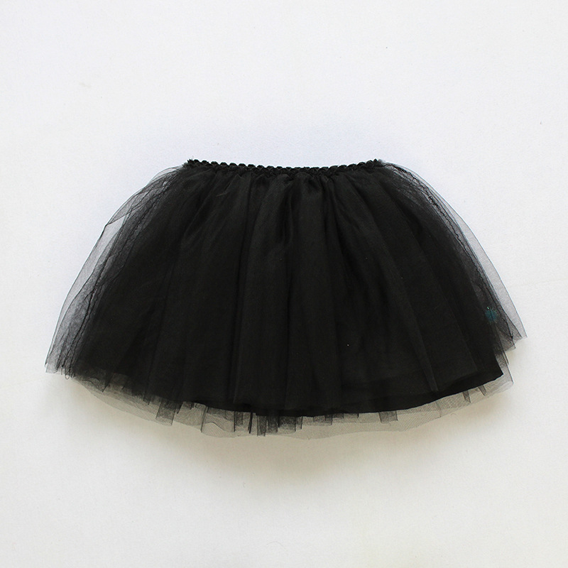 Tutu Skirt Tulle Girls Skirts Knee Length For Kids School Dance Fluffy Red Black Grey Color Princess Style Girls Clothes  11
