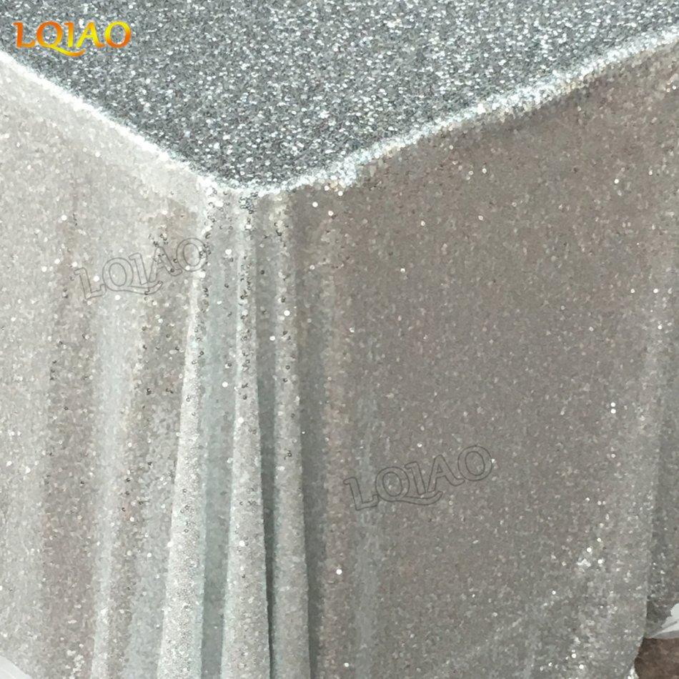 silver sequin rectangle tablecloth-003