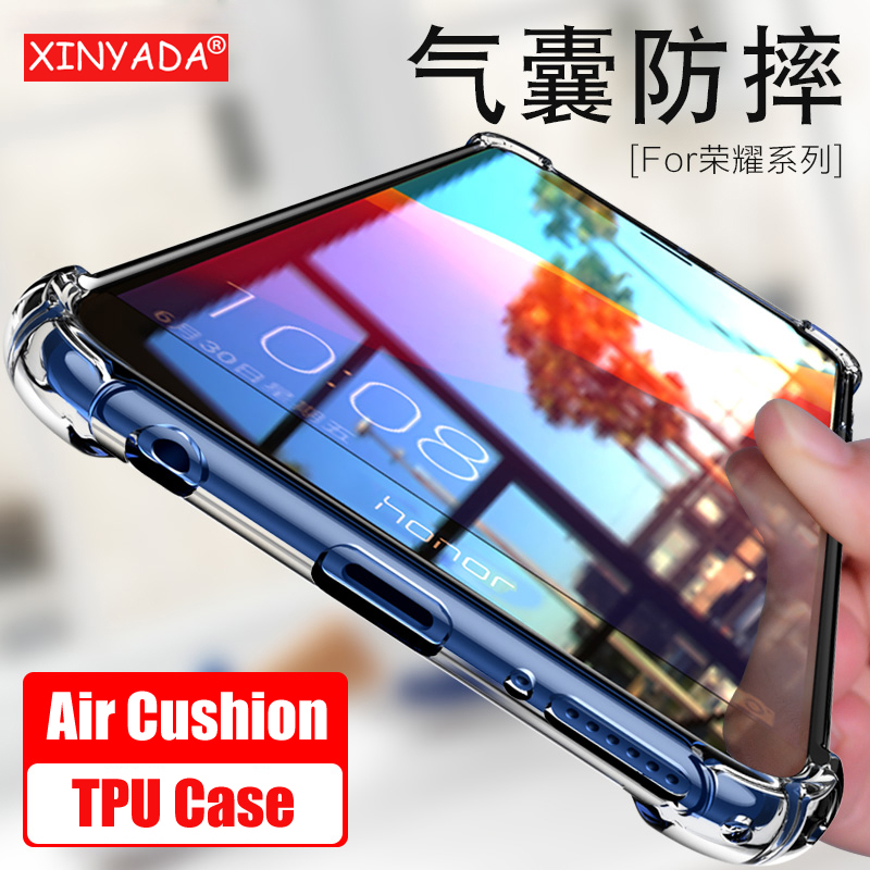 Xinyada Crystal Case For huawei honor 7C Y7 Prime 2018 Air Cushion Bumper Shockproof TPU Back Cover For huawei Y7 Pro 2018