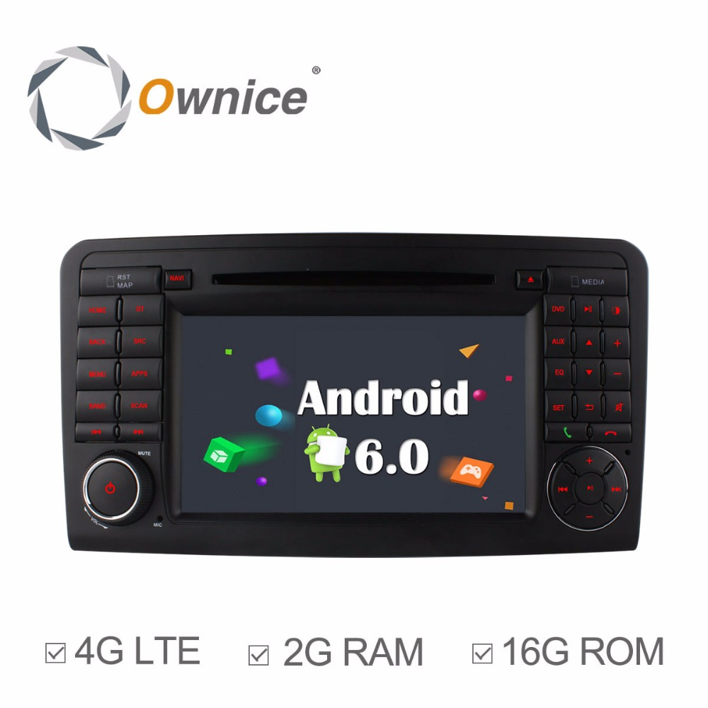 Ownice 4g sim lte 4 core 1024 600 android 6 0 car dvd player for mercedes