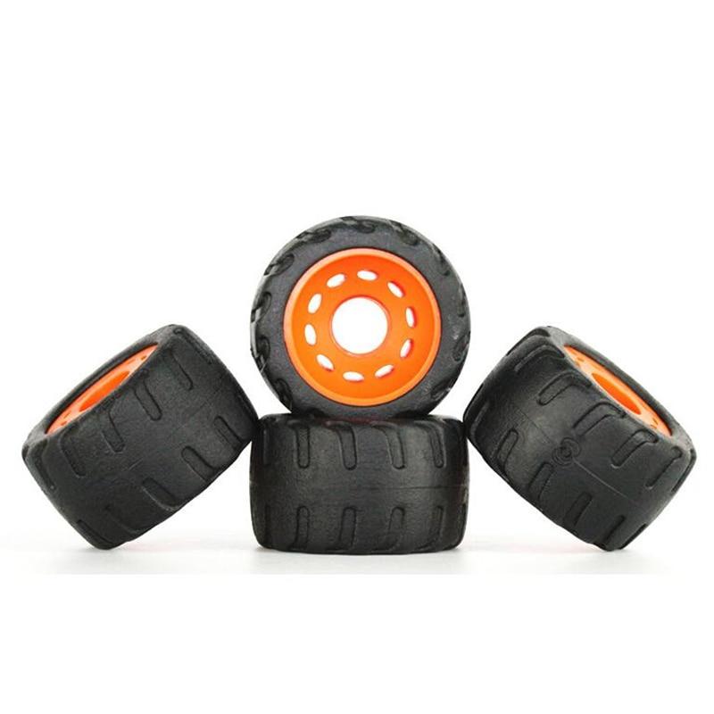 4 Pcs/lot 75A Low-noise Anti-vibrate Road Tyre Skate Board Wheels For Flat Plate Single Double Rocker Skate Board Durable PU