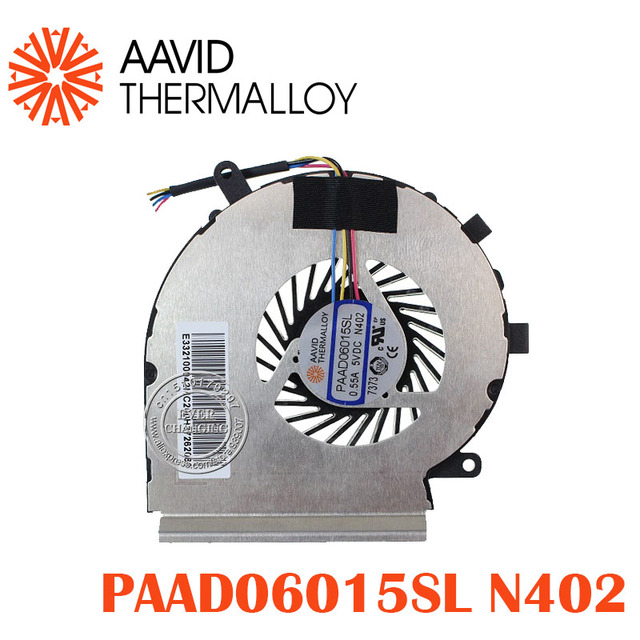 NEW CPU COOLING FAN AAVID THERMALLOY PAAD06015SL 055A 5VDC N402 4PIN E332100042MC200H37262066