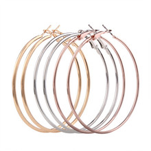 BK brand Fashion Three Piece C-Shaped Large Hoop Earrings