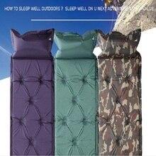 Pode ser emendado automaticamente aumento ao ar livre inflável espessamento umidade prova tenda selvagem acampamento suprimentos piquenique esteira sle