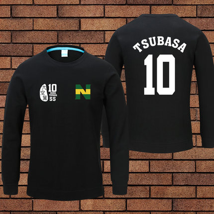 Plus size!Cotton t shirt!Anime Captain Tsubasa Jersey Uniform Cosplay Pullover Shirt Top tees 2 colors in Stock