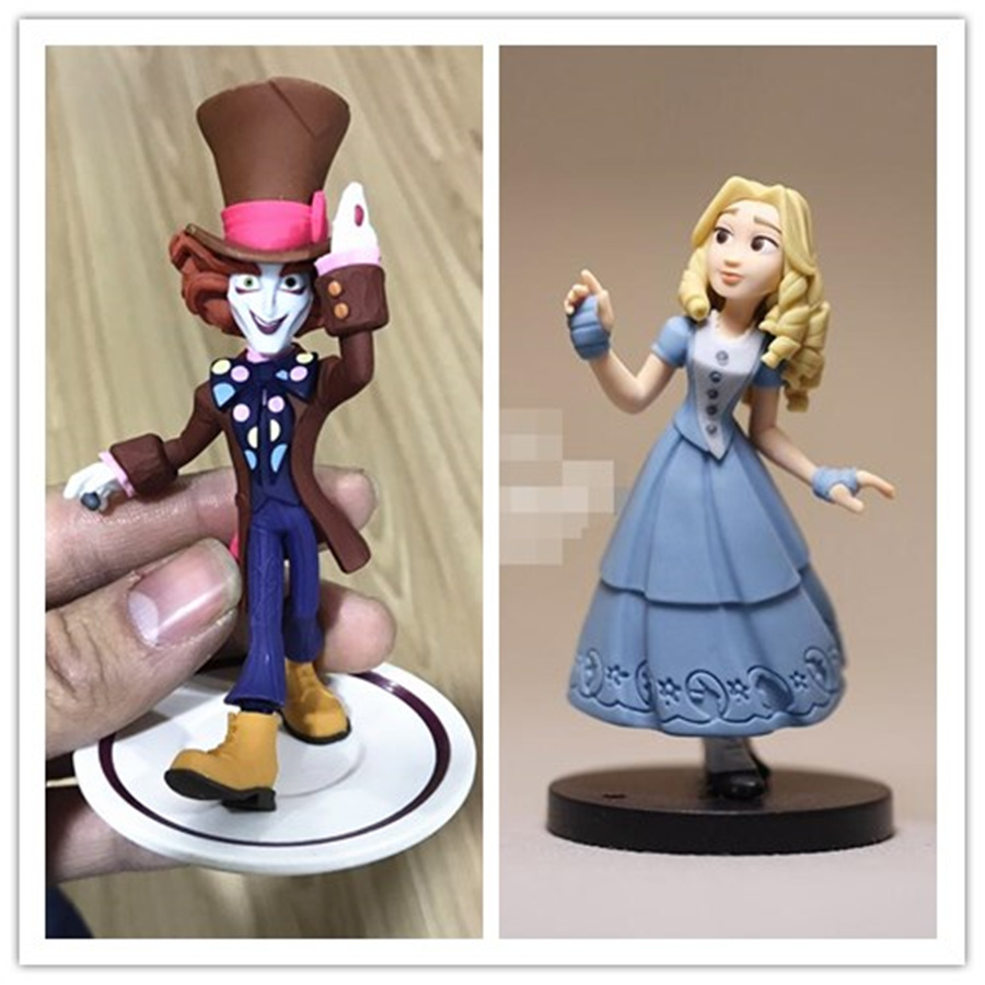 2pcs/lot 9cm original Alice in Wonderland Figure toys,ALICE IN WONDERLAND Alice and Mad Hatter collection figures toys junior republic junior republic блузка трикотажная белая