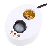 New E27 PIR Infrared Sensing Switch Power Cord Lighting Motion Sensor LED Light Base Lamp Holder