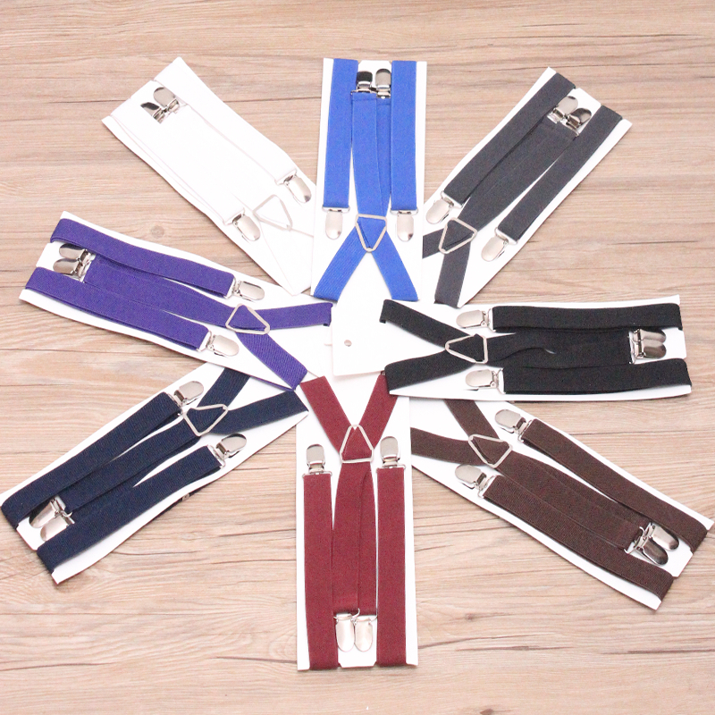 9 Color Elastic Leather Suspenders Men 4 Clips Braces Vintage Mens Women Suspender For Trousers Wedding Suspensorio For Skirt