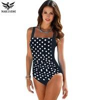 2016 New Arrival One Piece Swimsuit Women Vintage Bathing Suits Plus Size Swimwear Beach Maillot De