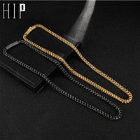 HIP Hop Width 6MM Stainless Steel Gold Rope Chain Necklace 316L Stainless Steel Twisted Necklace For Men Jewelry Dropshipping