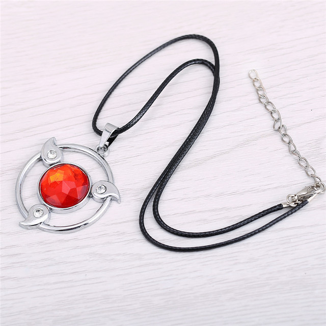 Naruto Saringan Necklace Round Eyes Wheels Red