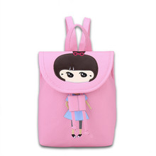 Фотография Russia Preppy Style women Cute pink students girl cartton print embroidery High quality PU backpack Versatile lady Shoulders bag
