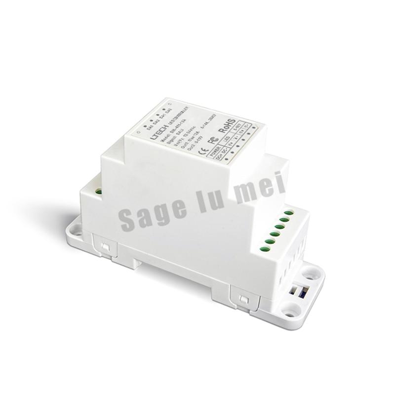 ФОТО DIN-411-10A;DALI to PWM CV Dimming Driver(DIN rail/Screw dual-use) DALI Dimming Signal;DC12-24V input;10A*1CH +0-10V *1CH output