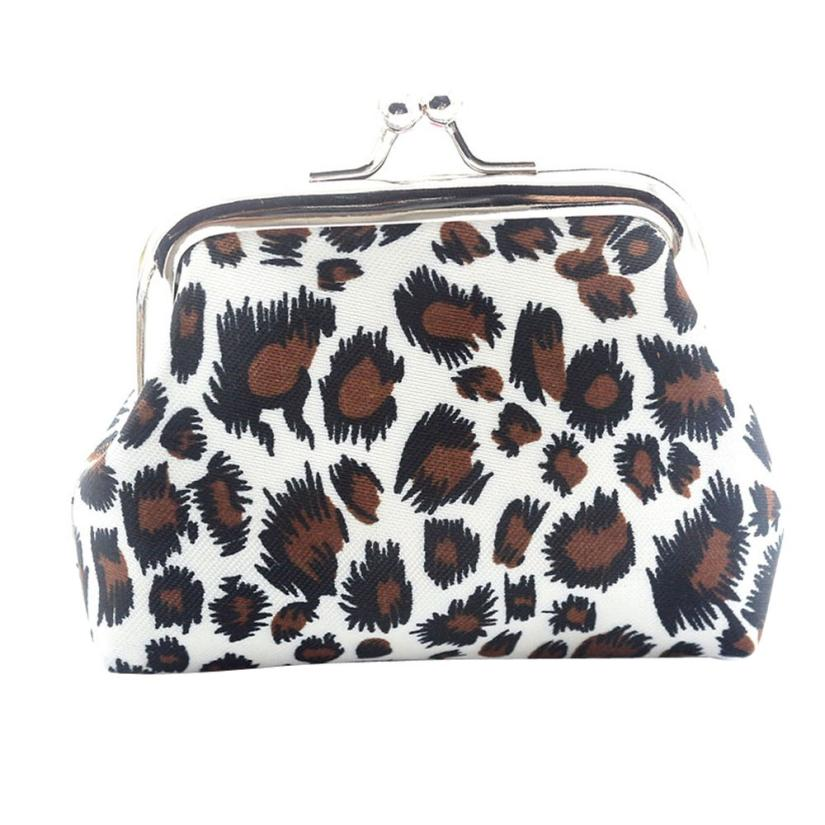 Women Lady Retro Vintage Leopard Small Wallet Hasp Purse Clutch Bag MAY9 Dropshiping june26