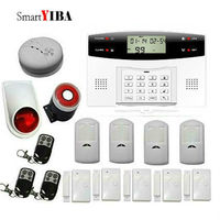 SmartYIBA Wireless Wired GSM Home Security Burglar Alarm System Wireless Siren Russian Spanish Italian French Czech Voice Prompt