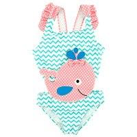 Yaz Bebek Çocuk Kız Mayo Kaplıca Mayo Dalgalı Noktalar Sevimli Yunus Yüzme Takım Elbise Bikini Çocuk Plaj Mayo