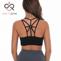Hot Selling Women Sport Top Athletic Vest Movement Sports Bra Yoga Top Aptitud Bra Popular P113