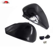 2 Pcs Motorcycle Side Oil Tank Battery Cover Covers For Harley Sportster Nightster Iron 883 XL 1200 2004-2013 Black