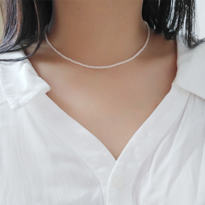 HTB1Z0tqLmzqK1RjSZFpq6ykSXXa6 - AA freshwater pearl white pink purple 3-4mm chocker necklace
