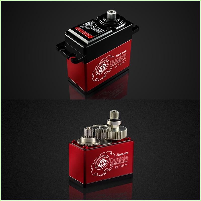 1 Pcs POWER HD D-12HV Coreless Motor Digital Servo Titanium & Alu Gear Torque 12KG speed 0.06 Sec,Compatible FUTABA JR SAVOX