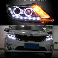 for 2012 2013 new KIA K2 kia Rio LED HID headlights,headlamps,HID Hernia lamp,LED KIT,auto car products,accessory